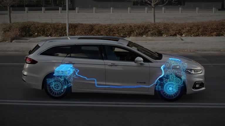Ford Mondeo diagram showing Regenerative braking