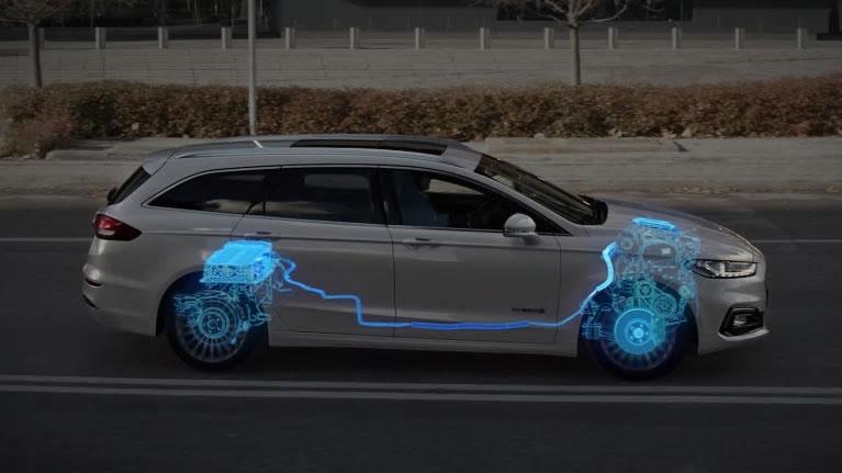 Ford Mondeo diagram showing Regenerative braking