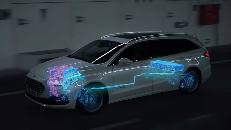 Ford Mondeo model showing Regenerative braking functions